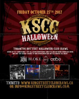 Toronto Halloween King Street Club Crawl