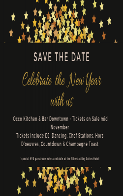 Occo Kitchen's New Years Eve Countdown to 2020